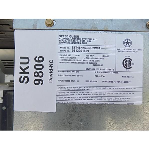 Speed Queen Stack Dryer 45LB(x2) Capacity STT45NNCG2G2W04   Luxe: Washer  and Dryer Rental   Speed Queen Dryer Wiring Diagram      Luxe Laundry Rentals